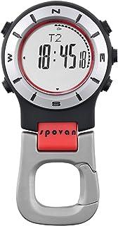 Spovan Altimeter Barometer Compass LED Digital Clip Pocket Watch