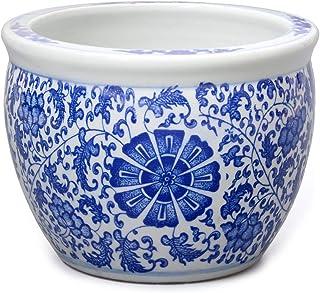 Blumentopf Blumenübertopf Pflanztopf Blau-Weiß Stil Porzellan  Ø 40cm P0141-6 Entstehungszeit nach 1945