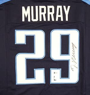 Tennessee Titans DeMarco Murray Autographed Blue Jersey - Beckett COA