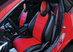 Iggee 2010-2015 Chevy Camaro Black/Red Artificial Leather Custom fit Front seat Cover