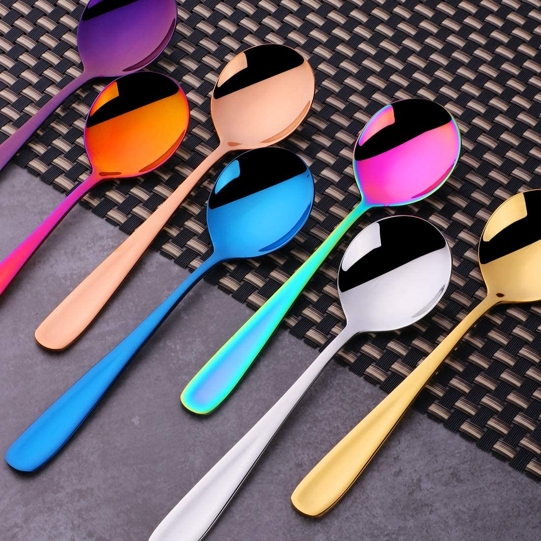 8 PCS Soup Spoon Table Spoon 6 Inch for Home Office Use and Restaurant Use