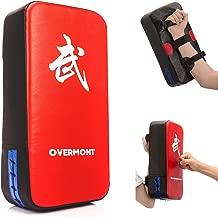 Overmont Taekwondo Kick Pads Boxing Karate Pad PU Leather Muay Thai MMA Martial Art Kickboxing Punch Mitts Punching Bag Kicking Shield Training 1pc