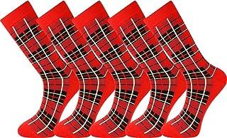 5 pares de calcetines de hombre Extra fino de algodón peinado sin costura tamaño 40-45