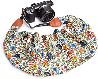 LIFEMATE Scarf Camera Strap,DSLR Camera Strap Universal Neck Strap,Fabric of Bohemia Floral Scarf Camera Strap (Style 55)