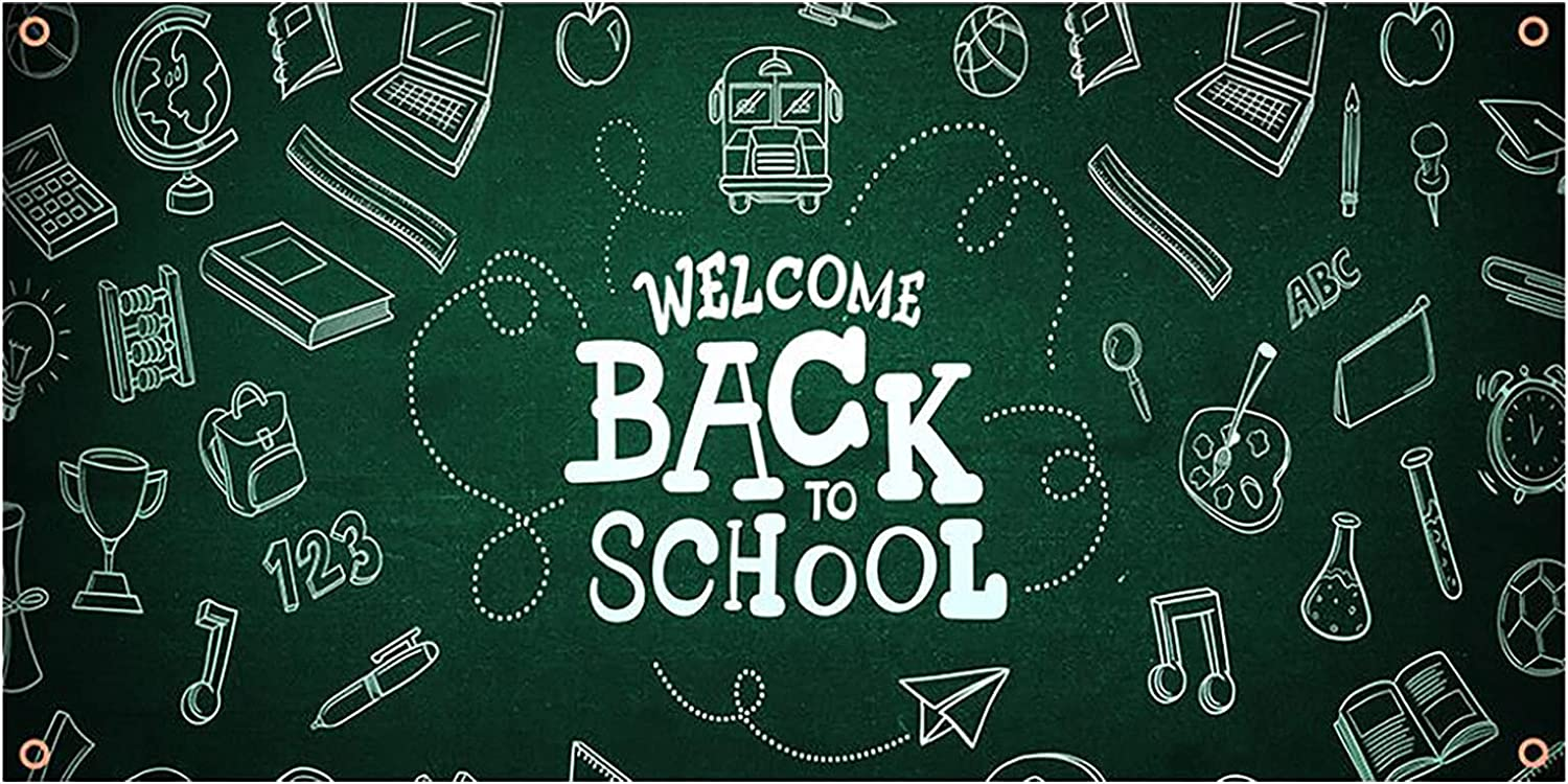 Welcome Back to School Backdrop of Banner Day In a Direct sale of manufacturer popularity First
