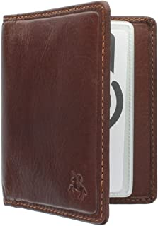 Visconti Tuscany Collection Camper Leather Card Holder - RFID Protection TSC40 Tan