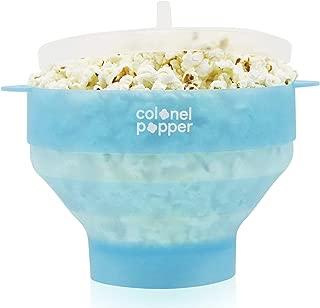Colonel Popper Popcorn Popper Silicone Microwave Popcorn Maker Air Popper (Glacier Blue)