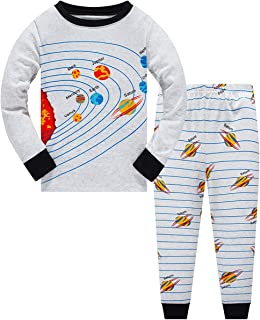 Little Boys Pajamas Sets Glow in Dark Dinosaur 100% Cotton 2 Piece Shark Toddler Clothes Kids Pjs Sleepwear Size 2-10T