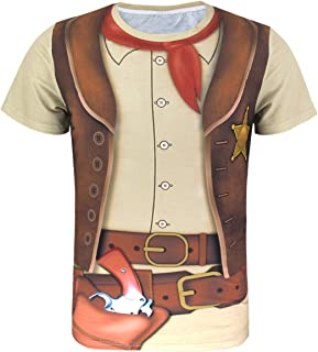 Men's Western Cowboy Costume T-Shirts