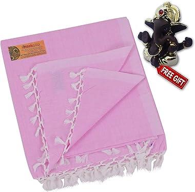 EthnicAlive Bhagalpuri Handloom Organic Cotton/Dull/Andi 100% Pure Bamboo Fabric Chadar/Shawl/Comforter/Duvet/Quilt Double Pi