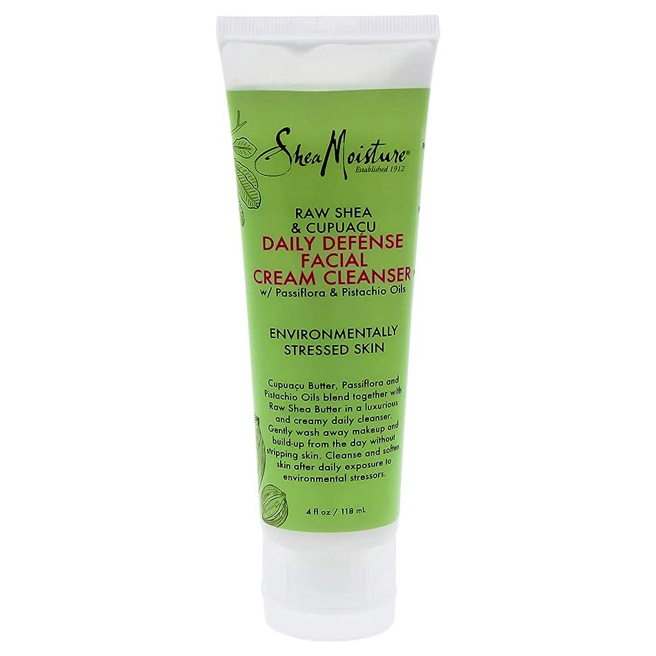 Shea Moisture Raw & Cupuacu Daily Defense Facial Cream Cleanser for Unisex, 4 Ounce