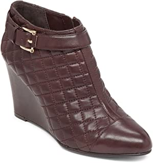 Loore Quilted Pointed-Toe Wedge Booties