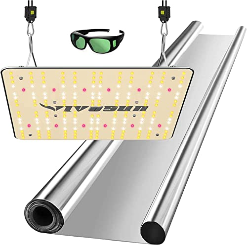lowest VIVOSUN Horticulture Highly Reflective Mylar Film Roll 4FT X 50FT 2 Mil, and VS1000 LED Grow Light with Samsung LM301H Diodes & Sosen Driver discount new arrival Dimmable Lights sale