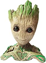 AdongTop Flowerpot Tree-Pen Pot Tree Man with depth is 3.5in,for Succulent Planter, Cute Green Plants Flower Pot, with Hole Pen Pot, Best Gifts For Kids(Grayish Brown)