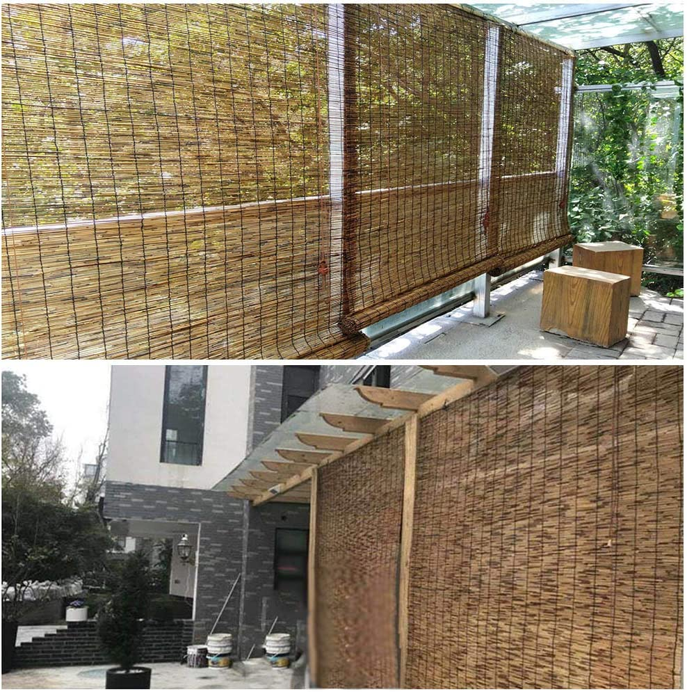 YUANJJ Bamboo Shades Roll Up Style ReedRolle Shutters 信託 Japanese 現金特価