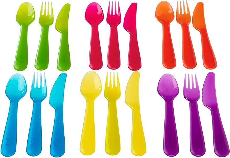 Ikea Kalas 901 929 62 18 Piece BPA Free Flatware Set Multicolored