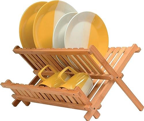 Bamboo-Collapsible-Dish-Drying-Rack