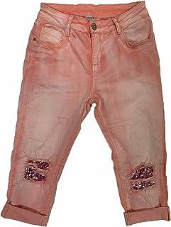 Crazy Age szorty damskie w letnich kolorach Pailetten Stars 3/4 spodnie Capri Bermuda