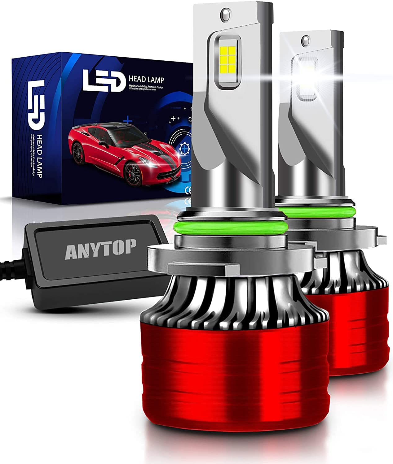 Sale ANYTOP 9006 HB4 LED Headlight Bulbs Low Lights Fog Today's only Replace Beam