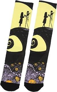 Nightmare Before Christmas Jack Skellington And Sally Adult Crew Socks 1 Pair