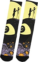 Nightmare Before Christmas Jack Skellington And Sally Adult Crew Socks 1 Pair