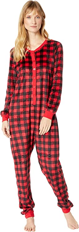 Buffalo Plaid Family Long Sleeve One-Piece PJ