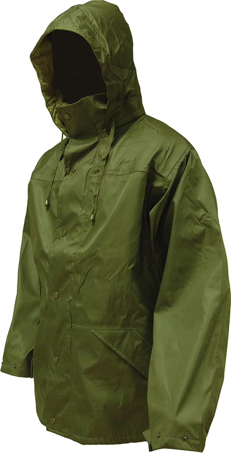(Large, Olive) - Highlander Tempest Waterproof Jacket