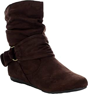 3ce6e50934d514 Women s Fashion Calf Flat Heel Side Zipper Slouch Ankle Boots