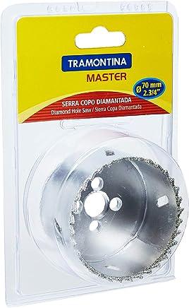 Tramontina 42626070, Serra Copo Diamantada 70Mm 2.3/4,Corpo Aço Especial, Dentes Metal, Rosca 1/2''