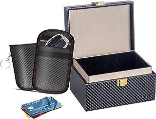 $20 » Sponsored Ad - Faraday Box & 2 Dual-Layer Pouches Value Bundle, Car Key Signal Blocker Box, Keyless Entry RFID Blocking Se...