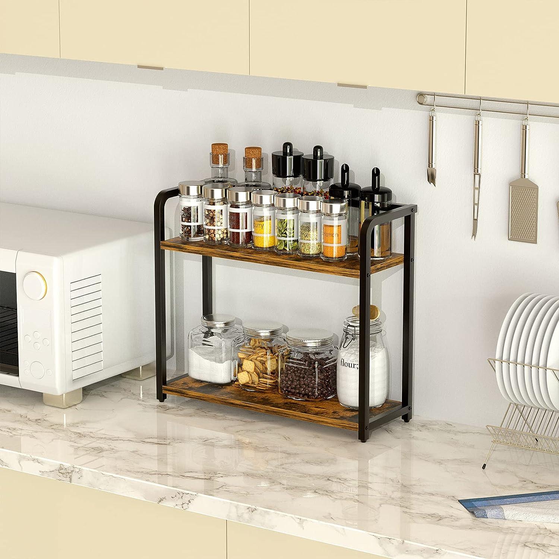 Buy EKNITEY Spice Rack Organizer for Countertop   Bathroom counter ...