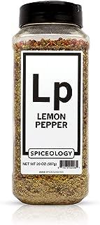 Lemon Pepper BBQ Rub - Spiceology Pink Peppercorn Lemon Thyme Spice Rub - 20 ounces