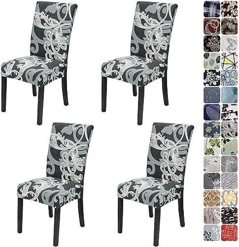 JOTOM Housse de Chaise 4/6 Pièces Couverture de Chaise Universelle Facile à Nettoyer et Durable pour Hôtels, Fêtes, M...