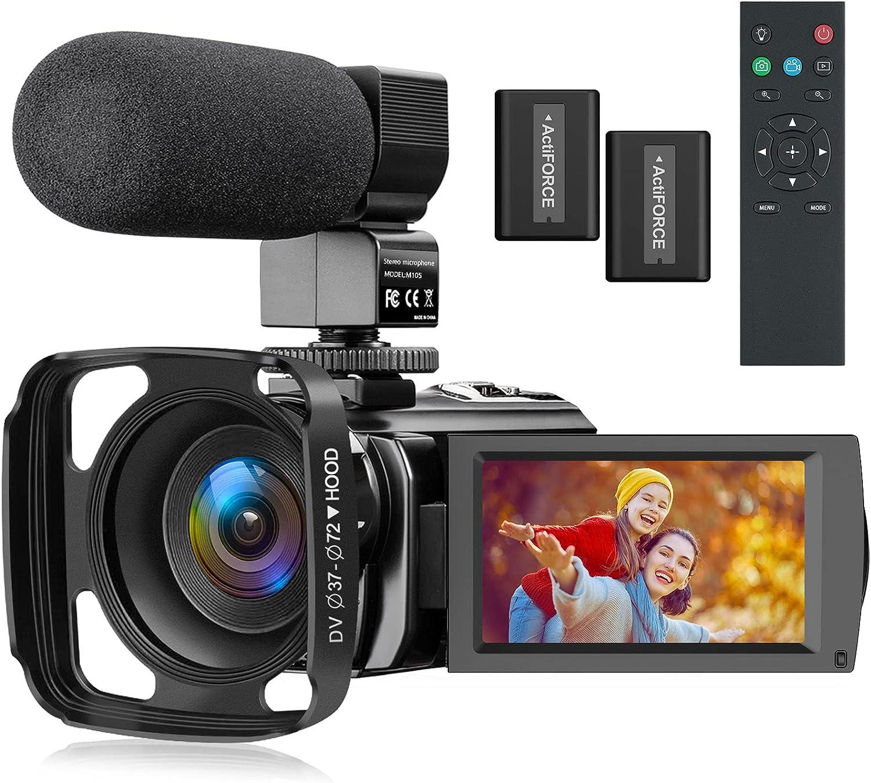 Superlatite Video Camera Camcorder Full HD for 1080P Vlogging YouTube overseas