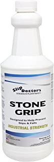 Stone Grip Industrial Non-Slip Floor Treatment for Tile and Stone to Prevent Slippery Floors. Indoor/Outdoor, Residential/Commercial, Works in Minutes for Increased Traction (Quart)