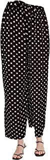 Women's Palazzo Pants with Drawstring/Women Polka Dots Straight Bottom Loose Pants Free Size