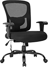 Big and Tall Office Chair 400lbs Wide Seat Mesh Desk Chair Massage Rolling Swivel Ergonomic Computer Chair with Lumbar Sup...