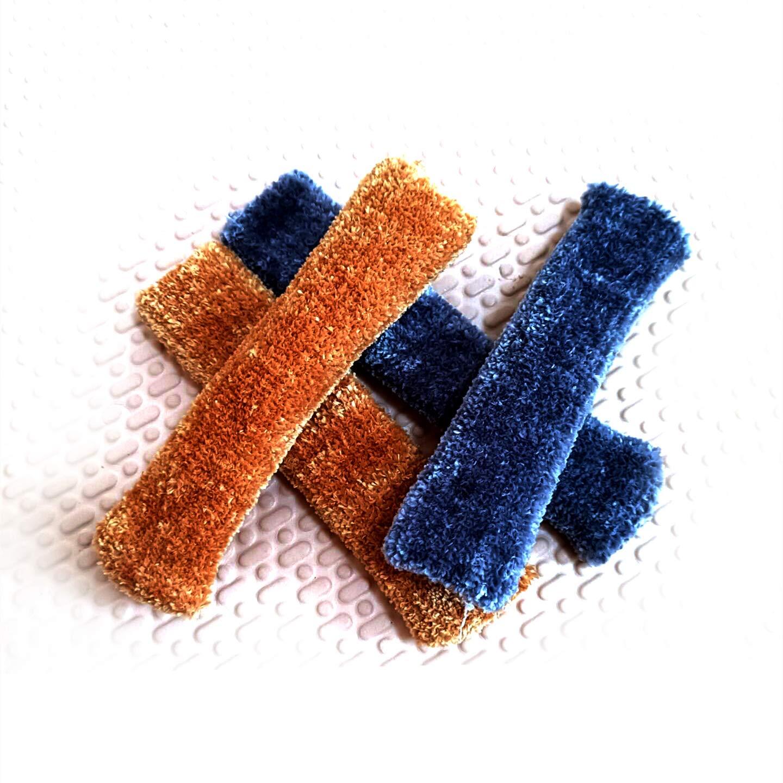 woonoon 2 Colors Soft Fleece Door Handle Cover Anti-Collision Warm Handle Covers丨Healthy Safety Doorknob Protector,4 Pack