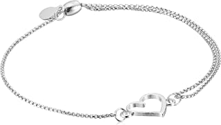Alex and ANI Heart Pull Chain Bracelet, Expandable