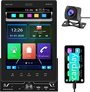 $99 » Car Stereo Compatible with Apple Carplay Double Din Bluetooth Car Audio Receivers 9.5 Inch IPS Touch Screen Car Radio,Thre...