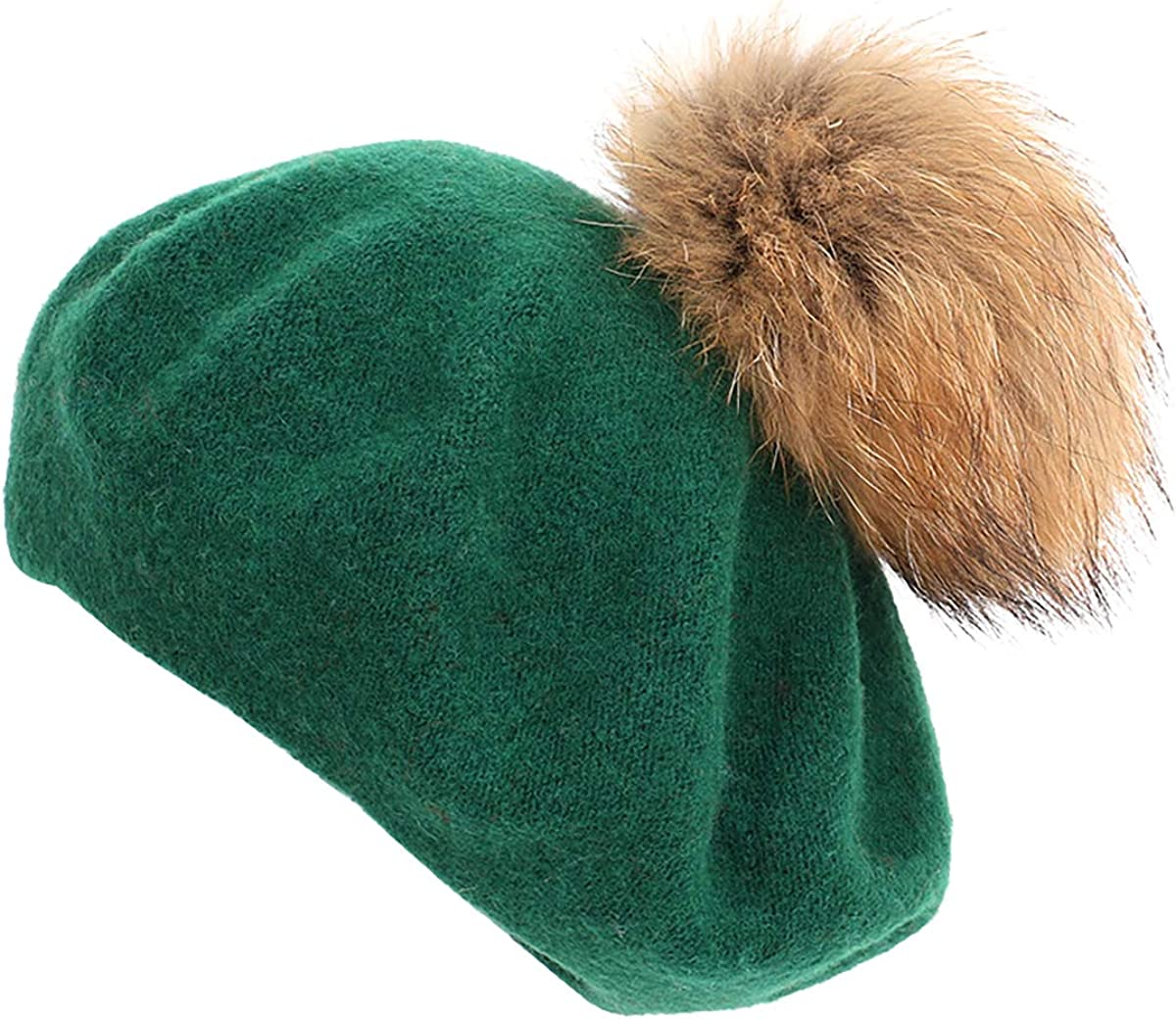 Cozylkx Women Beret Hat, Spring Autumn Pom Pom Beret Beanie Cap for Ladies