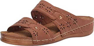 Easy Street Women Sandal,Tan,7 M US