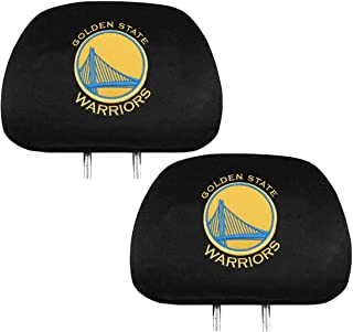 Official National Basketball Association Fan Shop Authentic NBA Headrest Cover. Show Team Pride Everywhere You Drive Especially While Tailgating At the Game (Golden State Warriors - Yellow)