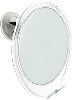JiBen Fogless Shower Mirror with Power Locking Suction Cup, Built-in Razor Hook and 360 Degree Rotating Adjustable Arm, Pe...
