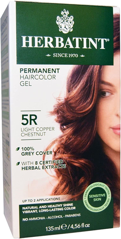 Herbatint 5R Permanent Herbal Light Ge famous Haircolor Copper Manufacturer OFFicial shop Chestnut