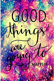 DIY 5D Diamond Painting by Numbers Kits, Quotes Inspirational Word,Good Things are Going to Happen, Full Drill Rhinestones Paint with Diamonds Crystal Diamond Art (Good Things are Going to Happen)
