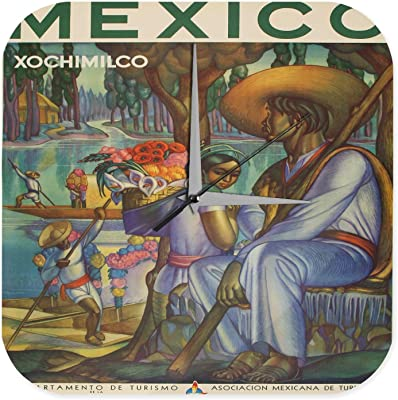 壁時計 wall clock Globetrotter Boats flowers Mexico Printed Acryl Plexiglass
