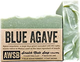 Blue Agave Bar Soap with Mexican Lime, Vegan, All Natural with Organic Ingredients, Handmade by A Wild Soap Bar