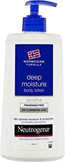 Neutrogena Norwegian Formula Deep Moisture Body Lotion Sensitive, 400mL