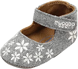 Newborn Toddler Baby Girl Shallow Bow Shimmer Soft Sole Single Shoes CA Slip On